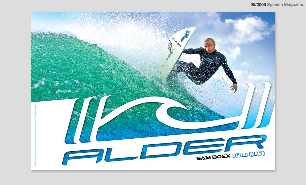 Alder advertising by Rees Kenyon Design