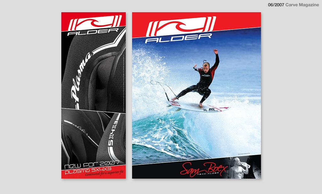 Surfing advertising by Rees Kenyon Design