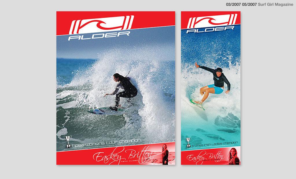 Surf advertising by Rees Kenyon Design