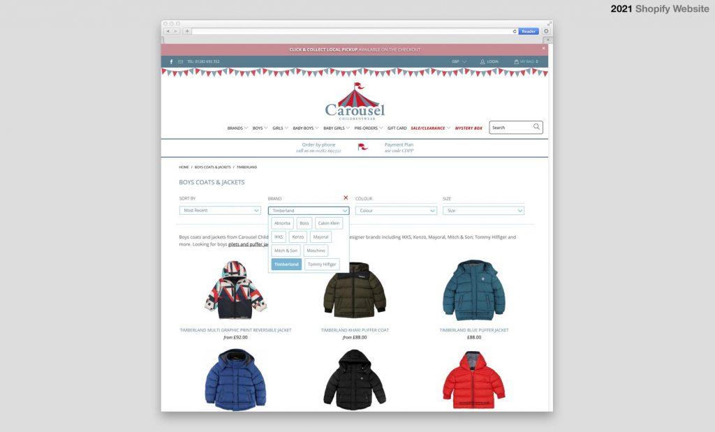 Shopify Designer Kids Clothing Store