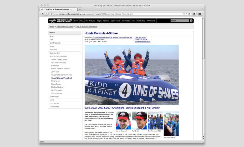 Corporate web design by Rees Kenyon Design Devon UK