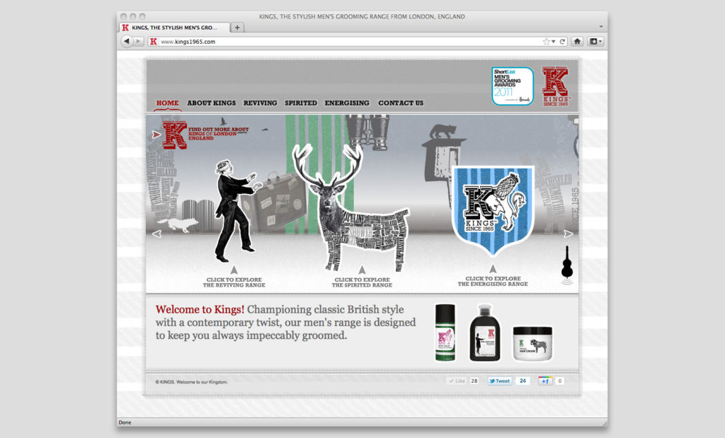 King of Shaves website by Rees Kenyon Design Devon UK