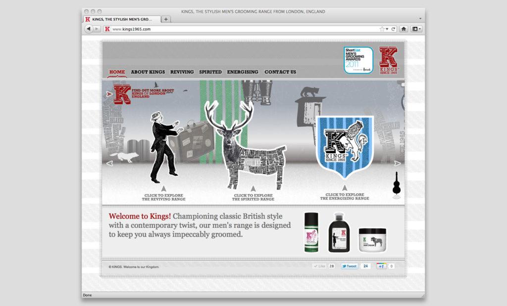 King of Shaves website by Rees Kenyon Design Devon UK
