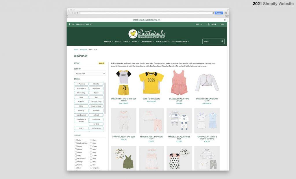 Puddleducks Shopify Website