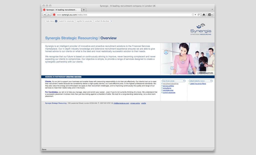 Recruitment website by Rees Kenyon Design, Devon