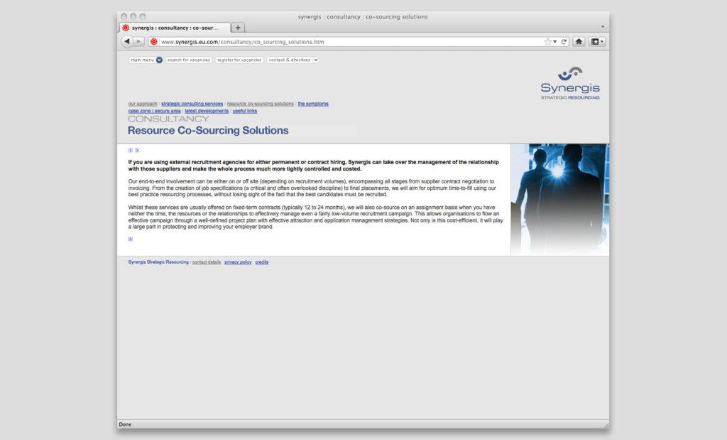 Recruitment site by Rees Kenyon Design, Devon