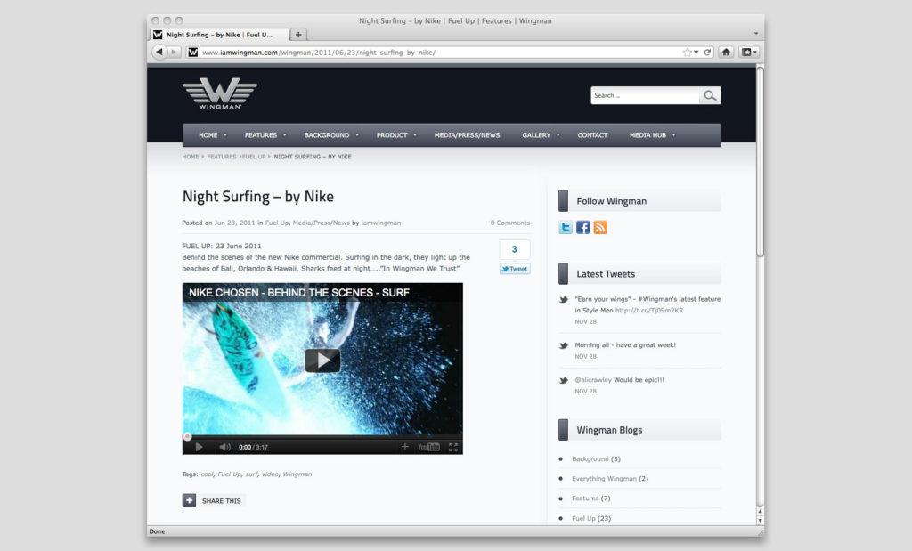 Social media website by Rees Kenyon Design Devon UK
