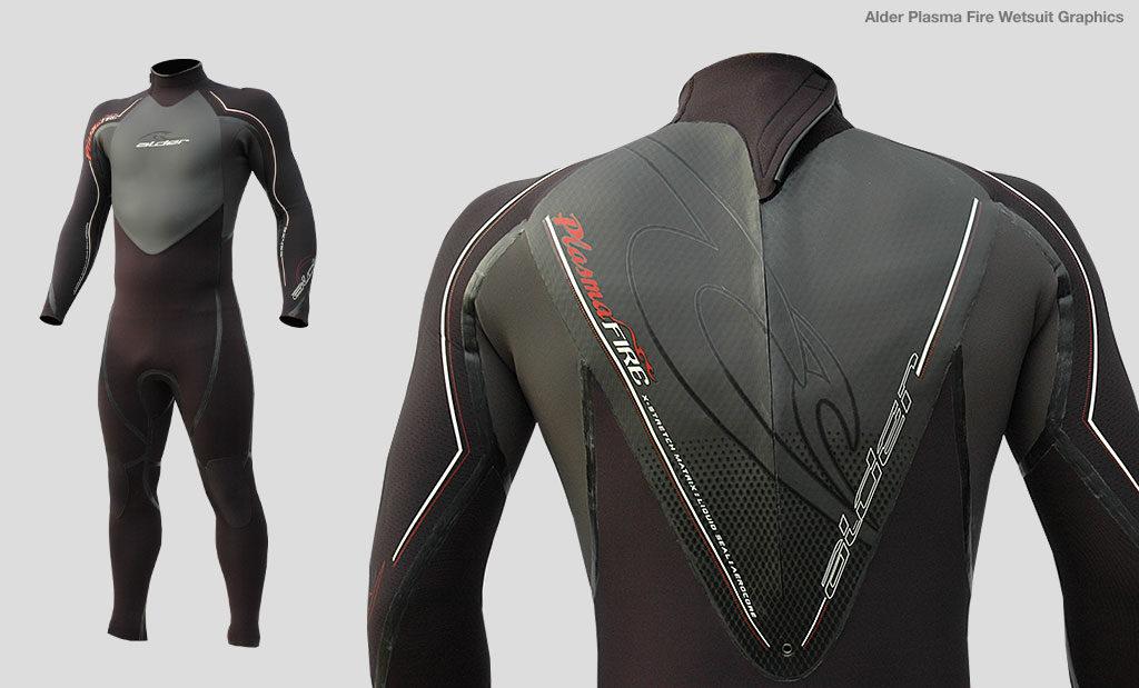 Alder Plasma Fire wetsuit graphic design Devon UK
