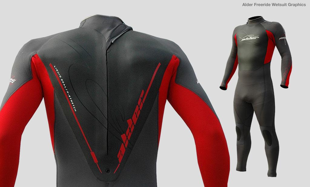 Alder Freeride wetsuit brand design Devon UK