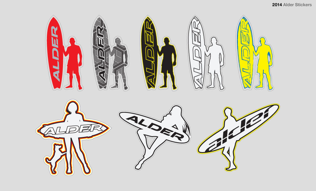 Surfing sticker design Devon UK