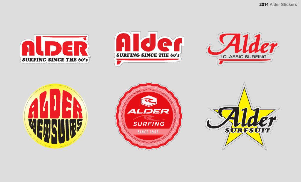 Retro sticker design Devon UK