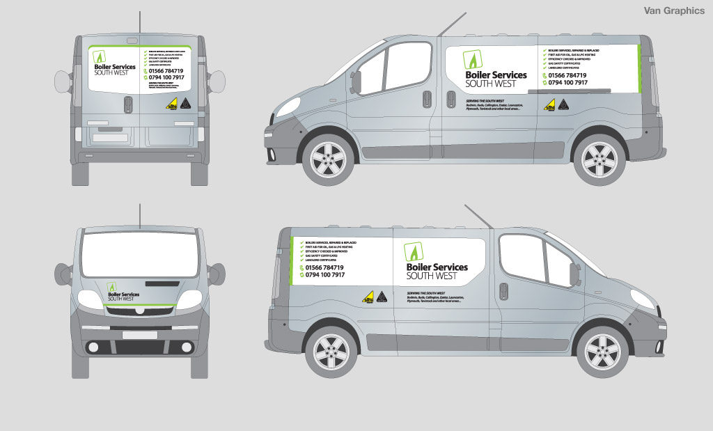 Boiler Services South West Vehicle Graphics and Livery by Rees Kenyon Design