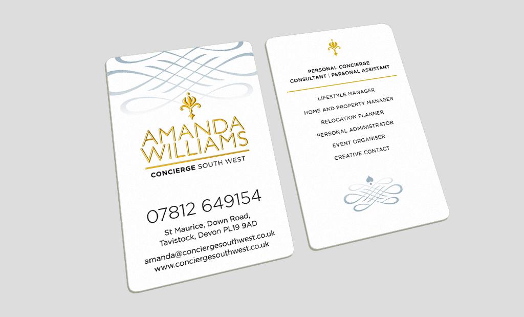 Premium Business Cards by Rees Kenyon Design Devon UK