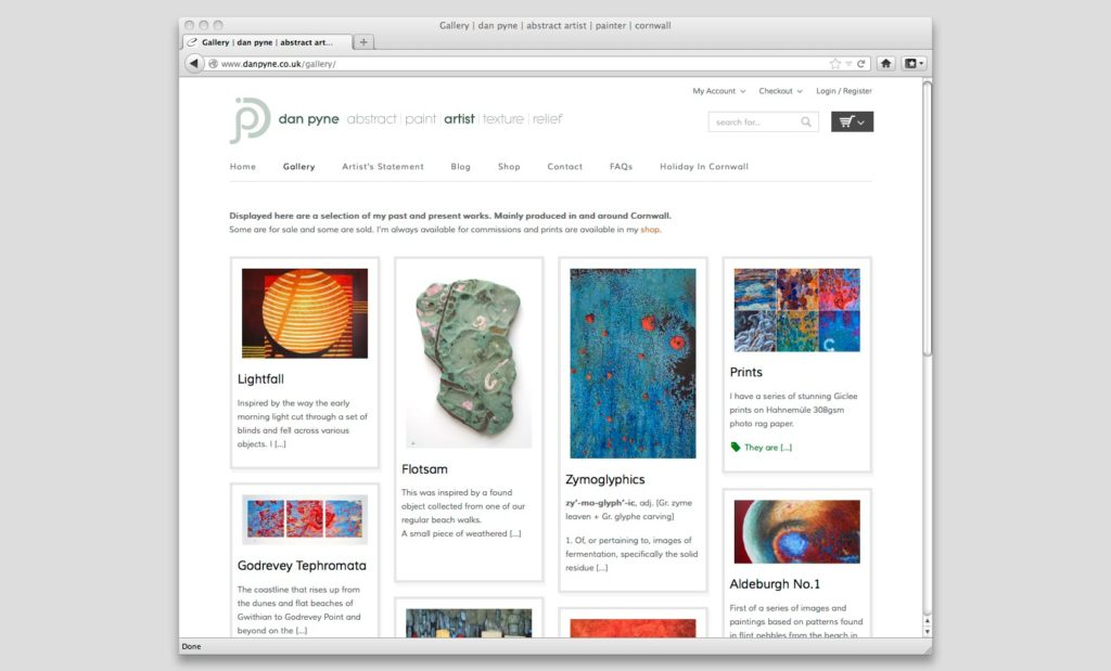 Artists Online Shop Website Designer UK