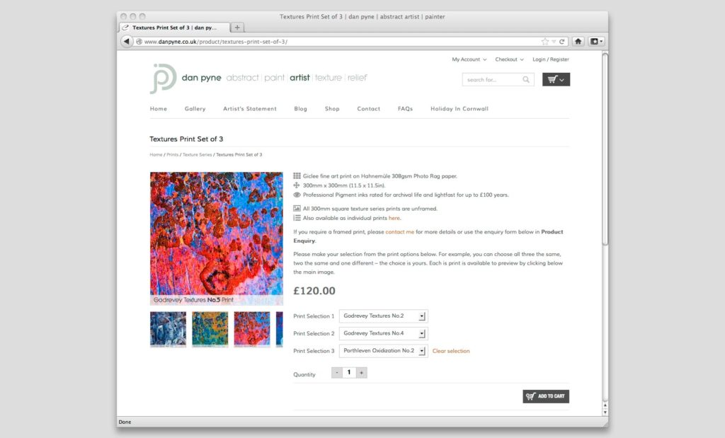 Artists Shop Website UK