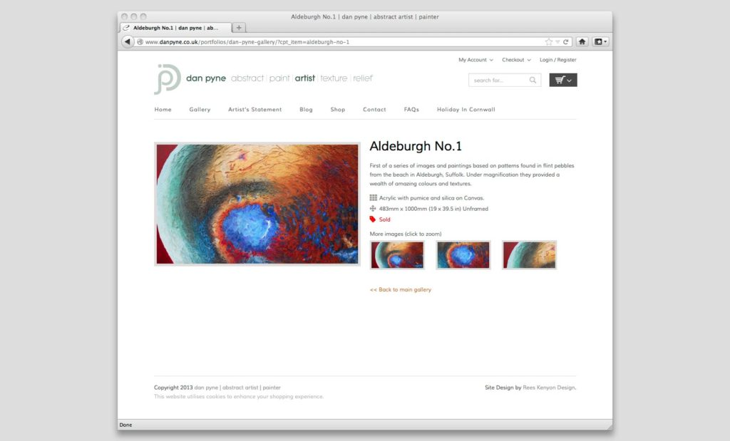 Artist eCommerce Website Design Devon