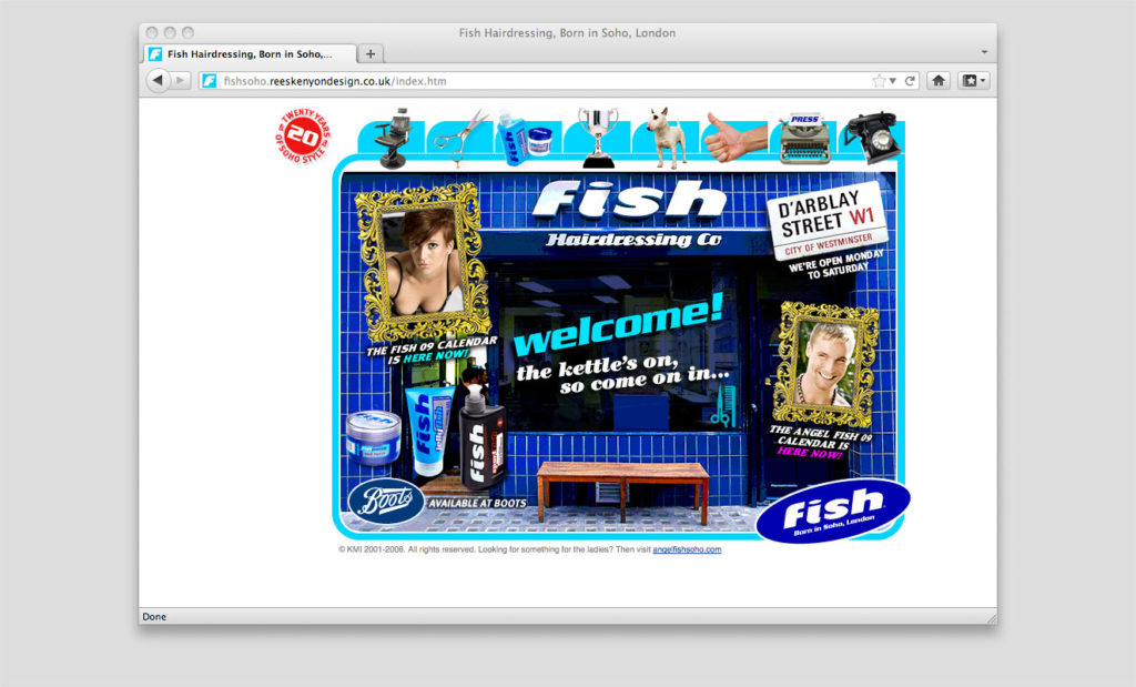 Fish Soho website by Rees Kenyon Design