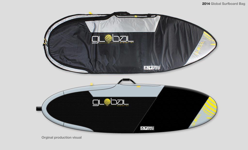 Surfboard bag graphics UK