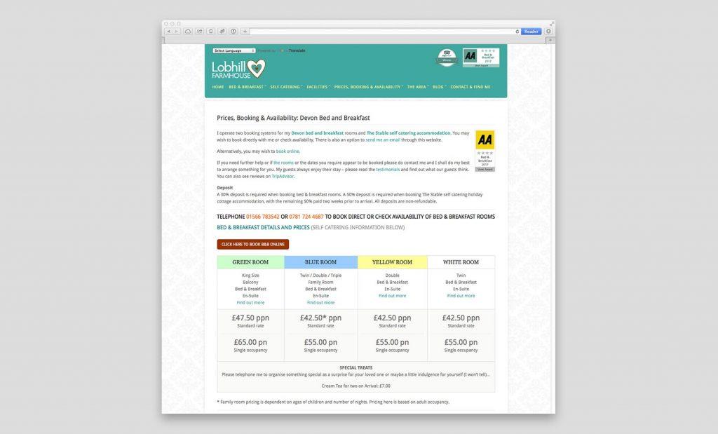 Fast loading websites Devon UK