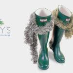 Christmas Hunter wellies by Rees Kenyon Design Devon