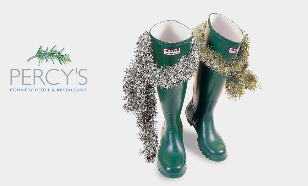 Christmas Hunter wellies by Rees Kenyon Design Devon
