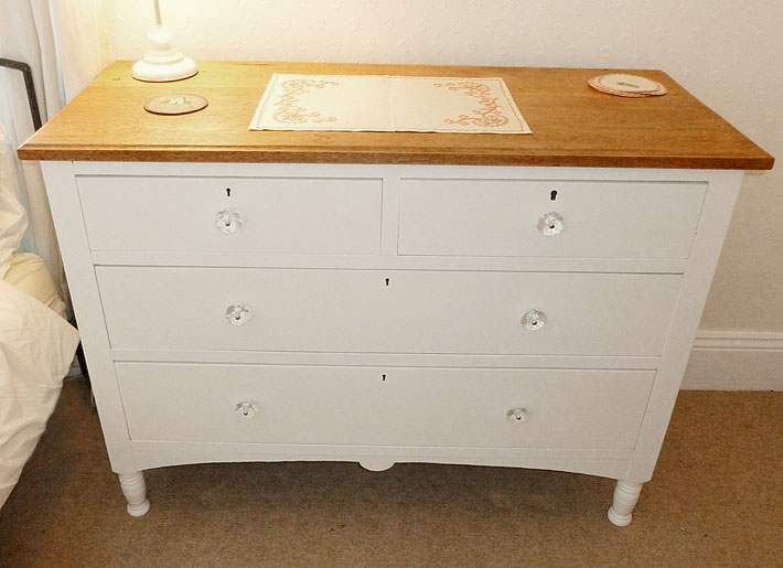 Smart Shabby Chic Chest Of Drawers Completed