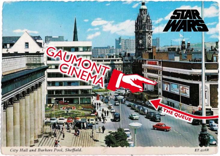 Star Wars 1977 Gaumont Cinema Sheffield