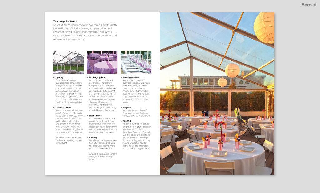 Minimalist Brochure Design Devon