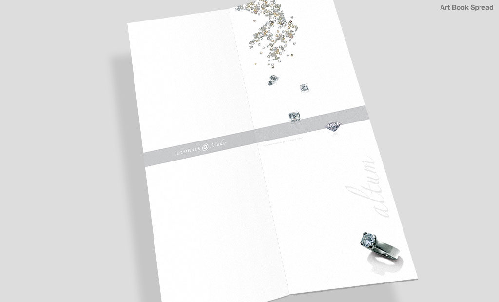 Jewellery brochure by Rees Kenyon Design Devon UK