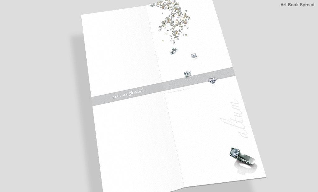 Jewellery brochure by Rees Kenyon Design Devon UK