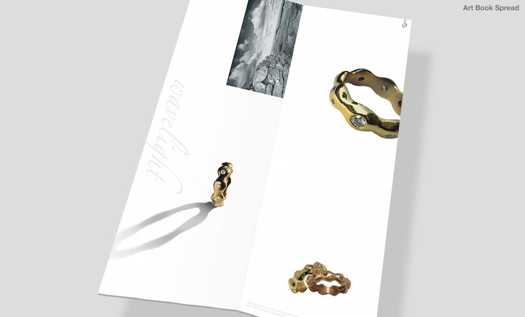 Jewellery promotion by Rees Kenyon Design Devon UK