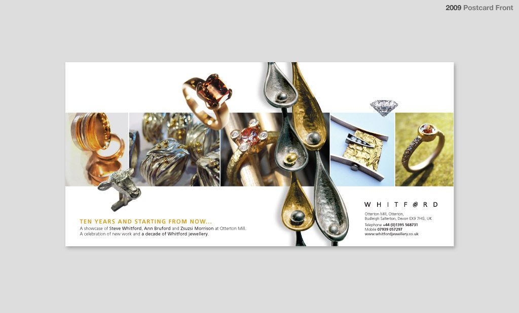 Promotional postcard design by Rees Kenyon Design Devon UK